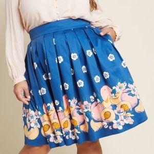 Modcloth | Peaches&Flowers Circle Skirt w/ Pockets